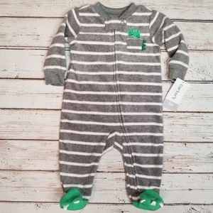 Carter's | Dinosaur Striped Zipper Sleeper